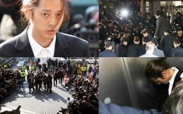 Jung Joon Young chính thức trình diện trong phiên thẩm vấn đầu tiên: Phờ phạc, bị phóng viên vây kín, hỏi dồn dập