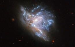 Hình ảnh kinh ngạc khi hai thiên hà hợp nhất thành một