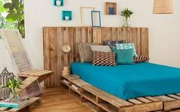 Giường pallet, loại giường 'ngon - bổ - rẻ', góp mặt trong không gian nào cũng xinh xắn, hài hòa