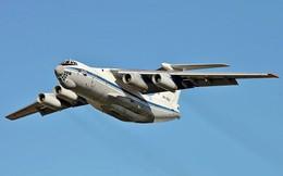 Mang 'ngựa thồ' Il-76 của không quân Nga đi ném bom?