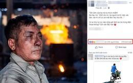 Dân mạng rơi nước mắt với bức ảnh người cha lấm lem cùng câu nói xúc động, nhưng đây mới là sự thật phía sau