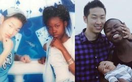 Chuyện tình của cặp đôi chàng Hàn nàng gốc Phi: Bạn từ thời trung học, đến với nhau khi nàng đã qua 2 lần đò và có tận 4 đứa con riêng