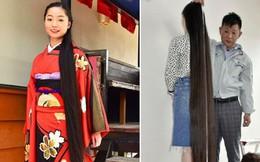 Bận ôn thi không thể cắt tóc, nữ sinh Nhật ẵm luôn danh hiệu 'cô gái có mái tóc dài nhất thế giới'