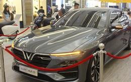 Chiếc VinFast Lux A2.0 được giới thiệu tại Paris Motor Show 2018