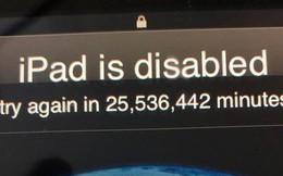 """""""Quý tử"""" 3 tuổi nghịch iPad để bị khóa 49 năm, chỉ tội ông bố chịu bó tay toàn tập"""