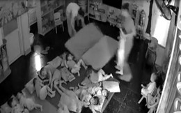 Đình chỉ cơ sở mầm non cầm tay quăng trẻ xuống nệm bắt đi ngủ