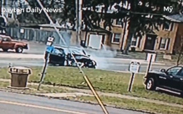Trốn sự truy đuổi của cảnh sát, 2 người đàn ông gây tai nạn kinh hoàng