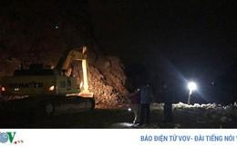 Sập mỏ đá tại Quảng Ninh, 1 công nhân mất tích