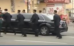 Dàn vệ sỹ của ông Kim Jong-un tái xuất, gây ấn tượng mạnh ở Nga