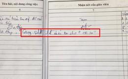 Hí hoáy nhắn tin với người thương trong giờ học, cô giáo ra tay viết một câu khiến học sinh xấu hổ chừa đến già