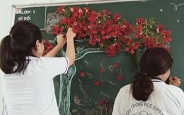 Xuất hiện chiếc bảng được học sinh biến thành một bức tranh nổi đẹp và chất không khác gì tác phẩm hội hoạ nổi tiếng