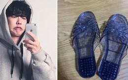 Muốn bạn gái làm công chúa giày thuỷ tinh nhưng lại tặng dép nhựa style ngoài chợ, thanh niên tỉnh bơ: Em thích chứ?