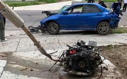 Say rượu lái xe chạy quá tốc độ, tài xế cùng động cơ văng luôn khỏi ô tô