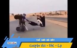 Video: Choáng với trò 'nhảy dây' kiểu Saudi Arabia
