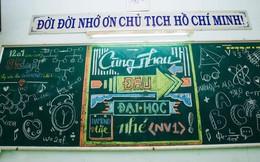 Đỉnh cao sáng tạo vẽ bảng chia tay của học sinh: Không ai nỡ xoá vì mỗi nét phấn là cả bầu trời kỷ niệm