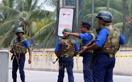 An ninh 'tận chân răng' bảo vệ Tổng thống Sri Lanka dự sự kiện
