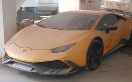 Xót xa siêu xe Lamborghini Huracan độ Mansory của đại gia Nha Trang nằm phủ bụi kín đặc