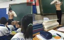 Thầy giáo vén áo khoe cơ bụng đốt mắt ngay trên bục giảng, lý lịch thật còn khiến chị em phát cuồng hơn