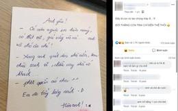 """Về muộn được vợ để phần mâm cơm tươm tất, nhưng anh chồng chỉ biết khóc ròng khi đọc lời nhắn nhủ đầy """"yêu thương"""""""