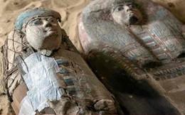 Hai xác ướp trong khu nghĩa trang cổ 4.500 tuổi ở Ai Cập