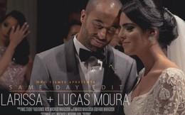 Tình yêu đẹp như cổ tích với vợ đã giúp Lucas Moura toả sáng rực rỡ trước Ajax