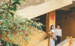 Cặp đôi mượn quần áo bố mẹ ra khu tập thể cũ chụp bộ ảnh cưới theo style 'thời bao cấp' trong trẻo và bình yên quá đỗi