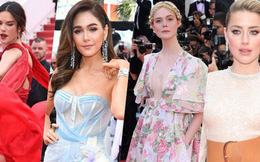 """Thảm đỏ Cannes ngày 2: Thiên thần Victoria's Secret gợi cảm táo bạo, """"Phạm Băng Băng Thái Lan"""" xinh như tiên"""