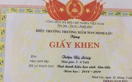 Video: Học sinh mầm non Thanh Hóa được trao giấy khen học sinh tiên tiến, xuất sắc