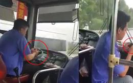 Đình chỉ tài xế xe buýt vừa lái xe vừa cắm mặt vào điện thoại nhắn tin, đọc báo