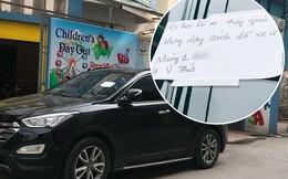 """Đậu xe chắn trước cửa nhà người khác ngày đầu tháng và mẩu giấy nhắn """"cực gắt"""" của gia chủ khiến tài xế tái mặt"""
