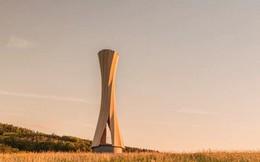 Độc đáo tòa tháp hình xoắn ốc được làm từ gỗ đầu tiên trên thế giới, không cong vênh, bền chắc không kém bê tông