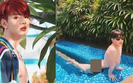 Đào Bá Lộc tung ảnh nude 100% thả dáng nằm dài trong hồ bơi đầy phản cảm