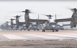 """Khoe 40 máy bay cất cánh cùng lúc, Mỹ chỉ đủ sức dọa """"đối thủ nhẹ cân""""?"""