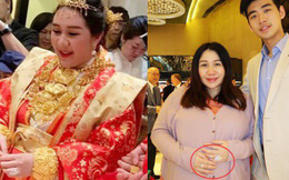 Sau lễ dạm ngõ trĩu cổ với vàng ròng, thiên kim sòng bạc Macau nặng nề với bụng bầu sinh đôi, lộ nhẫn kim cương khủng