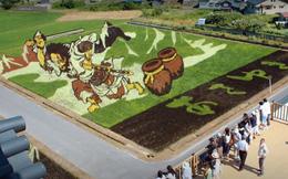 Biến ruộng lúa thành tranh vẽ đẹp như mơ, làng quê nghèo nước Nhật tưởng bị quên lãng bỗng trở thành điểm du lịch nổi tiếng
