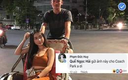 Hot boy tuyển Việt Nam khoe bạn gái đẹp như siêu mẫu, Đức Huy rủ Hải Quế 'méc' thầy Park
