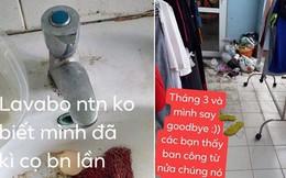 Nguyên phòng gái xinh ra đường nước hoa lồng lộn, về nhà thì rác chất đầy cửa khiến dân mạng ngán ngẩm
