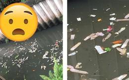 Vứt hàng ngàn bao cao su đã qua sử dụng ra dòng kênh, khách sạn bị phạt 7 triệu đồng nhưng lời giải thích vẫn khiến nhiều người bức xúc