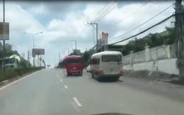 Tạm giữ 2 xe khách rượt đuổi nhau như phim hành động