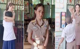 Cô giáo Thái Lan xinh đẹp đăng tải video chào đón học sinh vào lớp mà khiến hàng triệu trái tim thổn thức, ước được làm học sinh thêm lần nữa