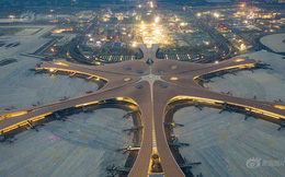 """Ná thở với sân bay """"sao biển"""" lớn nhất thế giới ở Trung Quốc, rộng bằng... 63 quảng trường Thiên An Môn, từ đầu nọ sang đầu kia dài cả cây số"""