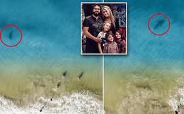 Chụp ảnh drone trên biển, ông bố phát hiện mối hiểm họa chỉ cách vài mét và bắt các con chạy lên bờ ngay lập tức