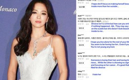 """Song Hye Kyo bị """"khủng bố"""" sau màn lột xác táo bạo bên dàn sao quốc tế hậu ly dị, chuyện gì thế này?"""