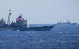 """[ẢNH] Tàu trinh sát điện tử Trung Quốc """"chen ngang"""" cuộc tập trận cực lớn của Mỹ và đồng minh"""