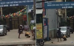 Phẫn nộ clip nam thanh niên đánh, đạp bạn gái tới tấp trên đường phố Sài Gòn