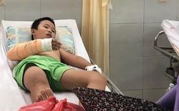 Em bé bán vé số bị cướp đánh gãy tay phải chuyển ra Đà Nẵng chữa trị