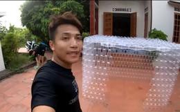 Quay clip xây nhà bằng 5.000 cốc nhựa rồi lái mô tô tông bẹp dúm để câu sub, nhóm bạn trẻ gây tranh cãi trên mạng xã hội