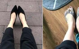 Mua giày mà được nhuộm... chân miễn phí, cô gái lên mạng hỏi: Nên khóc hay cười đây cả nhà?