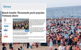 Lần đầu xuất hiện trên trang chủ hãng thông tấn Pháp, nhưng bãi biển Sầm Sơn lại gây sốc với những hình ảnh kín đặc người