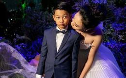 Đàm Thu Trang nắm chặt tay, hôn má Subeo cực tình cảm trong đám cưới với Cường Đô La